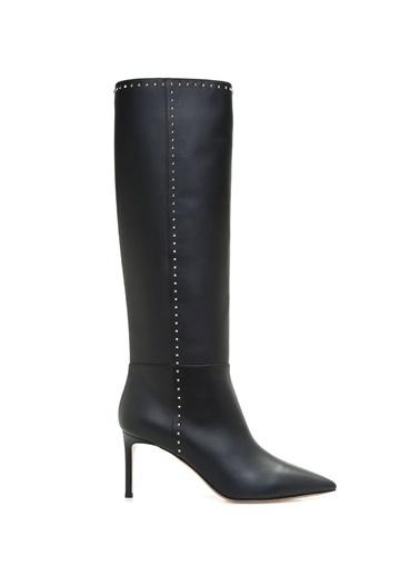 İnce Topuklu Uzun Deri Çizme-Valentino